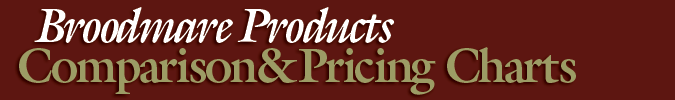 Broodmare Products Comparison and Pricing Chart